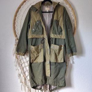 H&M Organic Cotton  Utility long-line Jacket